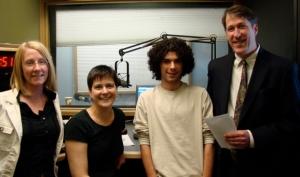 Foley, Jennifer Szweda Jordan, Technical Director, Intern Adam Cetra and Host Matthew Craig