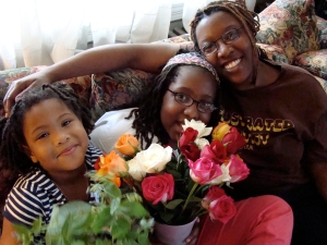 Deesha Philyaw (right) and Her Daughters Taylor (middle) and Peyton (left)