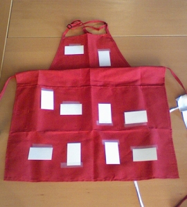 Apron Lay-Out for Card Pockets