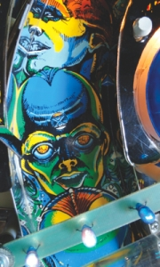Pinball Art Card: Xenon Detail
