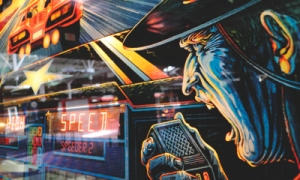 High Speed Pinball Art Card