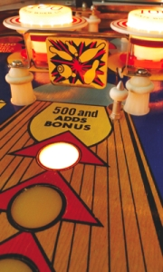 """300"" Bowling Pinball Art Card"