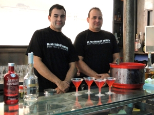 Absolut Bartenders at the Forja Opening (photo by Carolina Loyola Garcia)