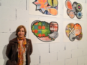Co-curator Pico Standing near Her Own Work