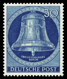 public domain image of German postage stamp